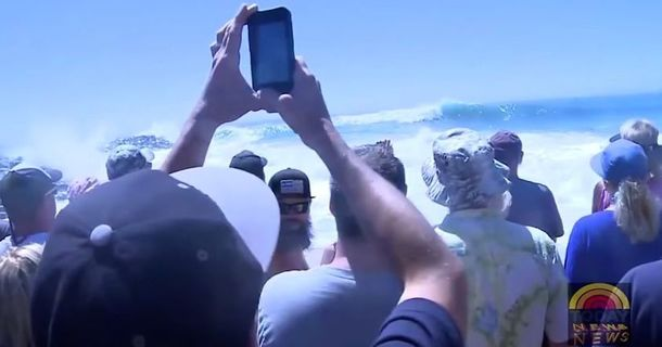 Tourists Looking For Big Waves Get More Than They Bargained For